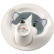 Villeroy&Boch - Animal Friends - Talerz z kubkiem kot